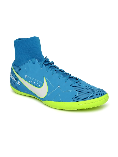 Nike Men Blue MERCURIALX VCTRY VI High-Top Football Shoes