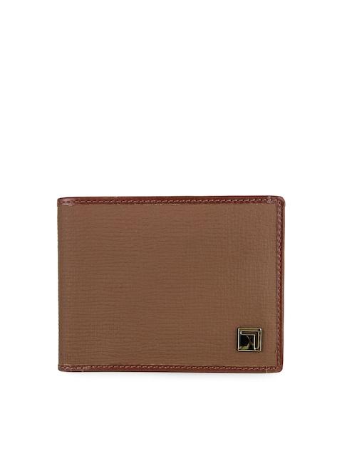 Da Milano Men Brown Leather Two Fold Wallet