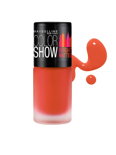 Maybelline New York Color Show Cheerful Coral Bright Mattes Nail Polish M305