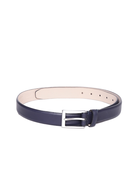 United Colors of Benetton Men Navy Blue Solid Leather Belt