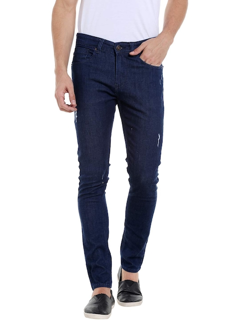 SPYKAR Men Navy Super Skinny Fit Low-Rise Mildly Distressed Jeans