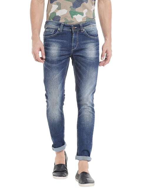 SPYKAR Men Blue Super Skinny Fit Low-Rise Clean Look Jeans