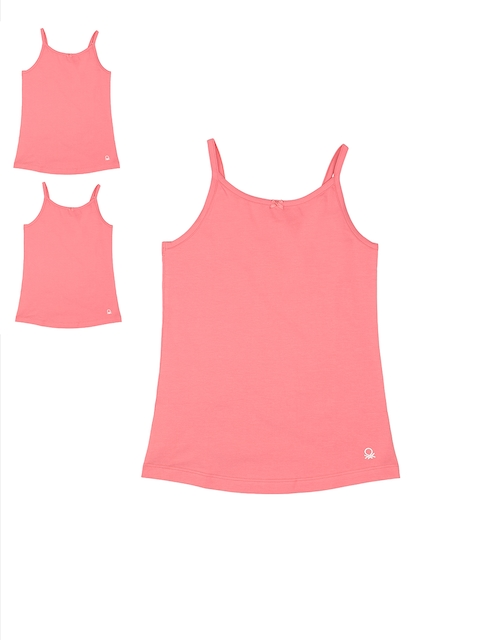 United Colors of Benetton Girls Pack of 3 Pink Camisoles KG05I-901