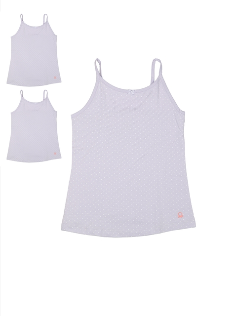 United Colors of Benetton Girls Pack of 3 Lavender Camisoles KG07I-902