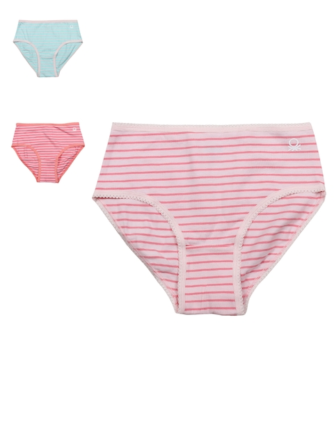 United Colors of Benetton Girls Pack of 3 Striped Briefs KB01I-902