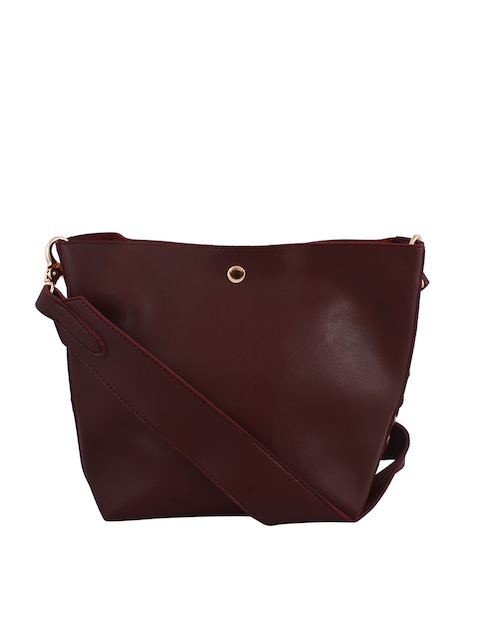 20Dresses Maroon Solid Sling Bag