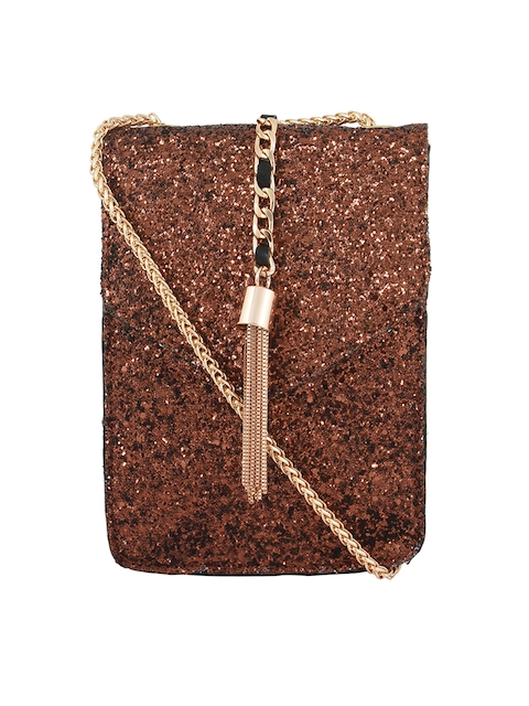 20Dresses Bronze-Toned Textured Sling Bag