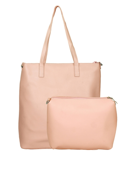 20Dresses Pink Solid Shoulder Bag with Pouch