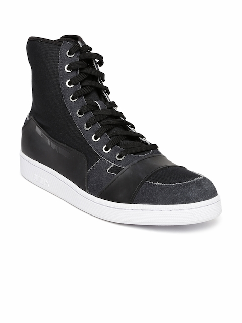 Puma Men Black High-Top MCQ SERVE MID Sneakers