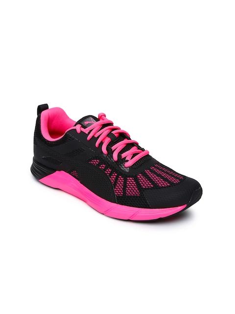 Puma Women Black & Pink Propel Running Shoes