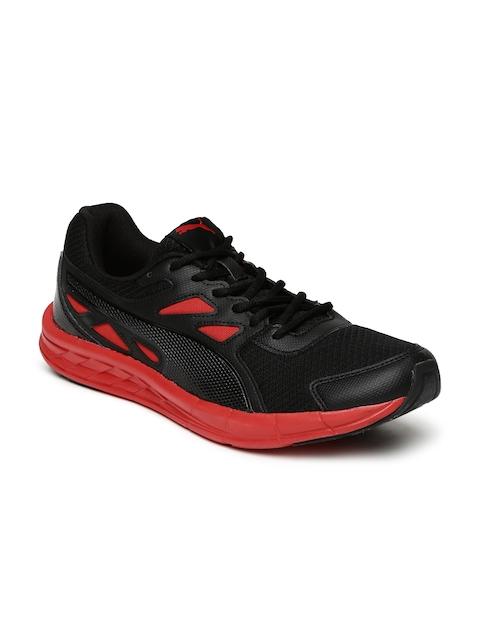 PUMA Men Black & Red Driver IDP Running Shoes