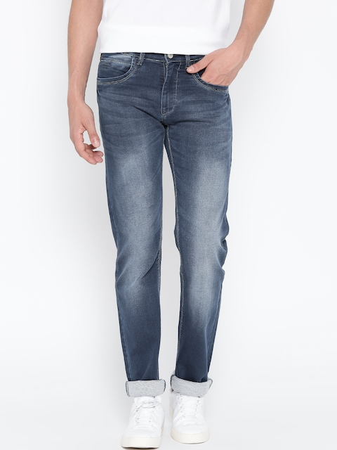 Monte Carlo Men Blue Mid-Rise Clean Look Jeans