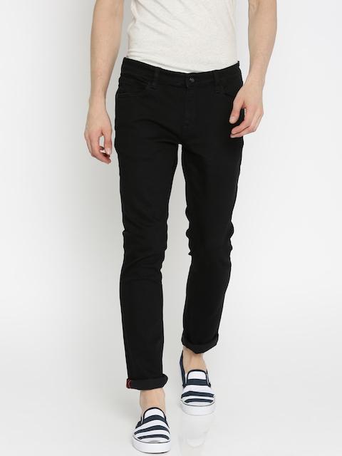 Arrow Blue Jean Co. Men Black Slim Fit Mid-Rise Clean Look Jeans