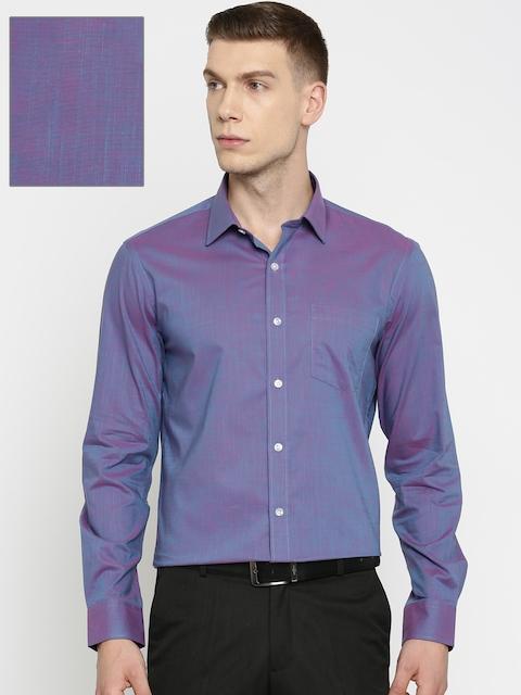 Arrow Men Purple Slim Fit Solid Formal Shirt