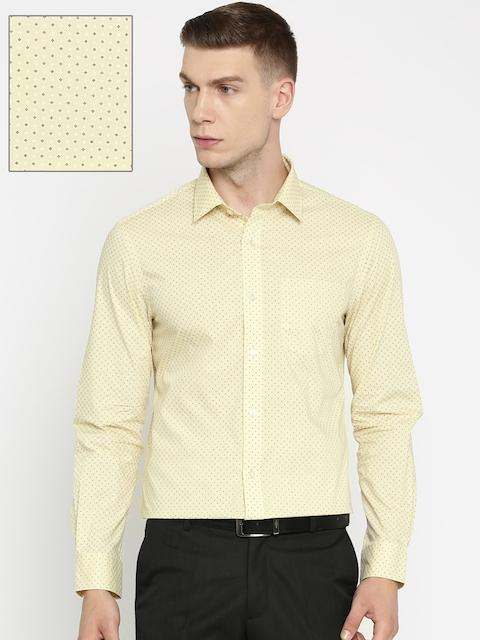 Arrow Men Beige Printed Slim Fit Formal Shirt