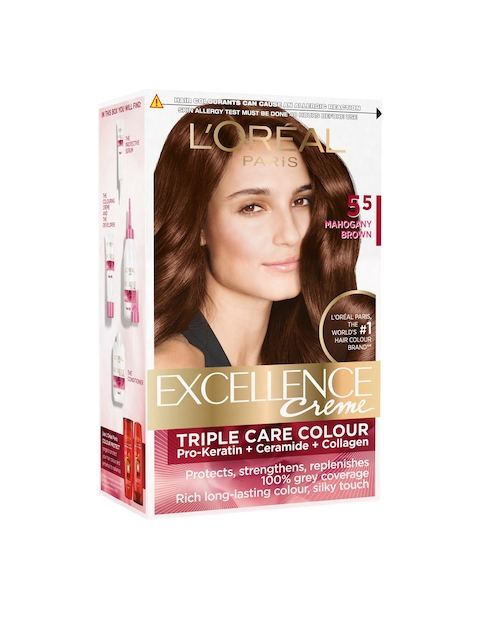 LOreal Paris Mahagany Brown 5.5 Excellence Creme Hair Colour 72 ml + 100 g