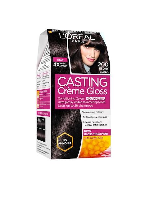 Loreal Paris Casting Creme Gloss Hair Color- Ebony Black 200