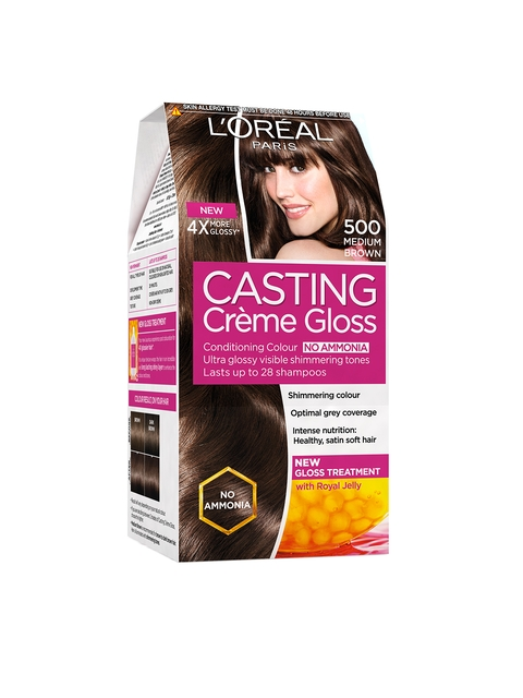 LOreal Paris Casting Creme Gloss Medium Brown Hair Colour 500