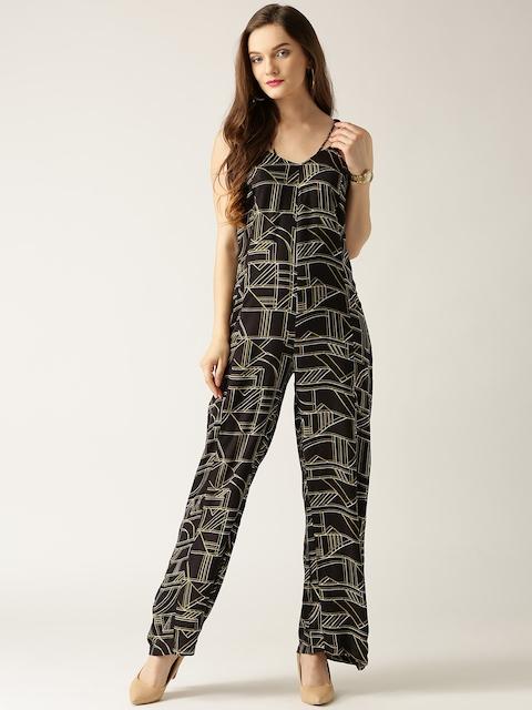 Marie Claire Black Printed Jumpsuit