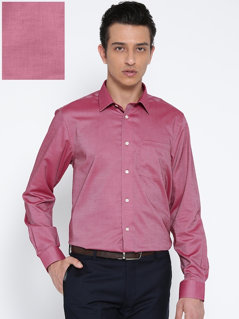 Blackberrys Men Pink Smart Fit Solid Formal Shirt