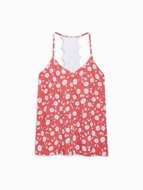 next Women Red Floral Print Top