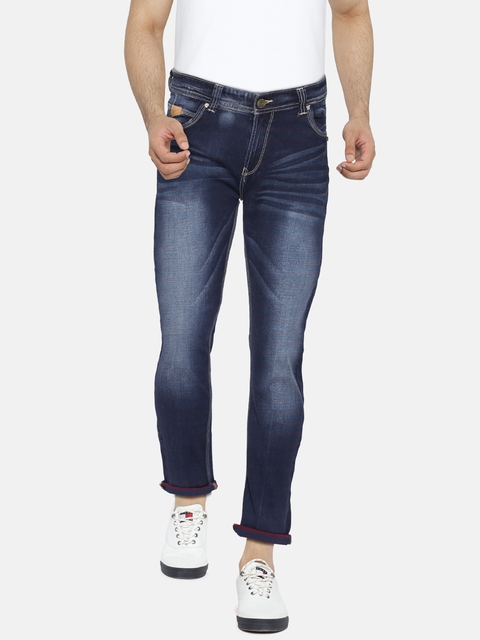 SPYKAR Men Blue Skinny Fit Low-Rise Clean Look Jeans