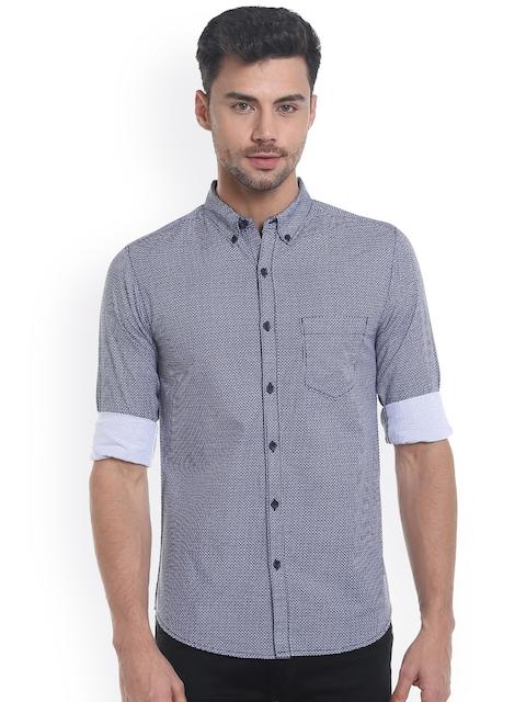SPYKAR Men Blue Slim Fit Printed Casual Shirt