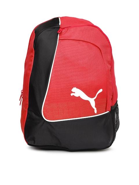 Puma Men Red & Black Colourblocked Backpack