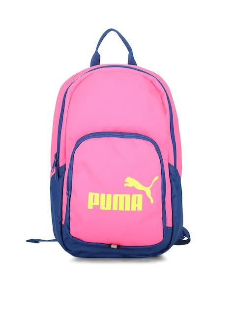 Puma Men Pink Solid Backpack