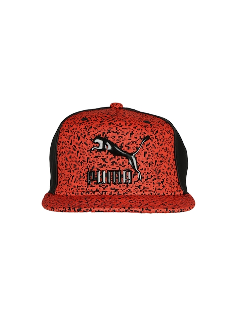 PUMA Unisex Red & Black New LS Deluxe Strap Back Woven Cap