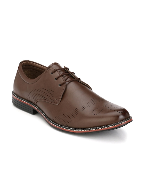 John Karsun Men Tan Brown Formal Derby Shoes
