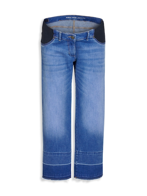 next Women Blue Regular Fit Mid-Rise Clean Look Maternity Jeans