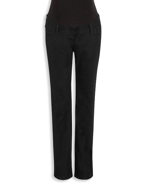 next Women Black Slim Fit Mid-Rise Clean Look Maternity Jeans