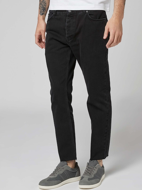 next Men Black Regular Fit Mid-Rise Clean Look Jeans
