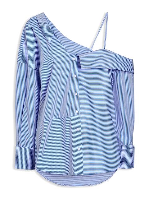 next Women Blue Regular Fit Striped Casual Shirt