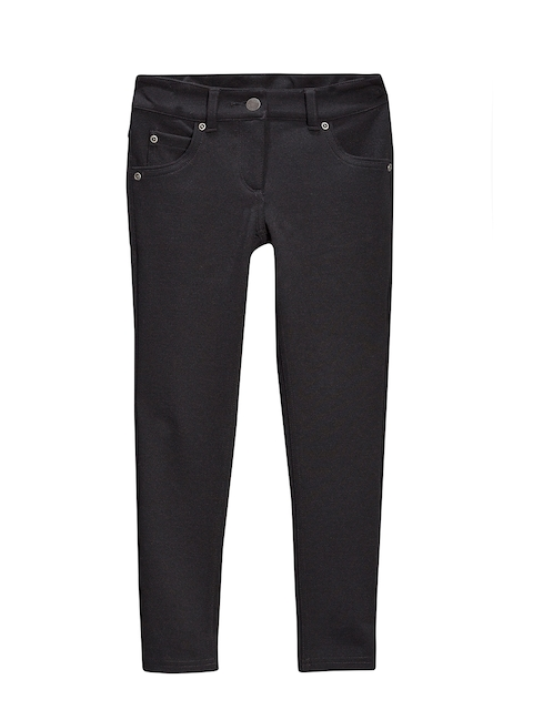 next Girls Black Solid Trousers