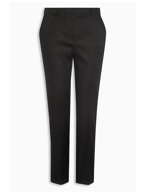 next Women Black Solid Cigarette Trousers