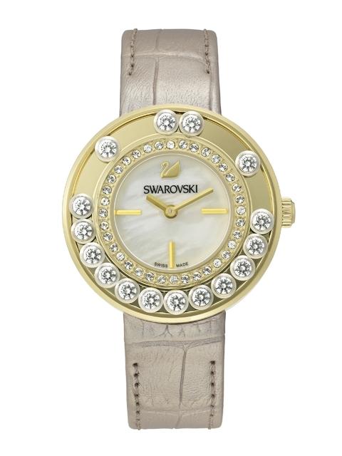 SWAROVSKI Women Lovely Crystals Light Gold-Toned Watch