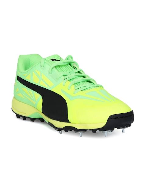Puma Men Yellow & Green Cricket Shoes 10378603