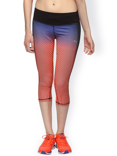 Puma Orange Graphic 3/4 Tights