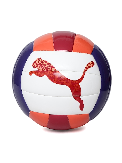 PUMA White & Red Training Volleyball