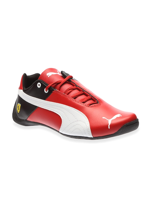 PUMA Boys Red & White Colourblocked Sneakers