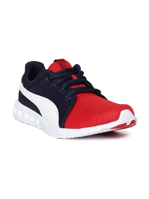 Puma Unisex Red & Navy Blue Carson Runner 400 Mesh Jr Football Shoes  available at myntra for Rs.2279