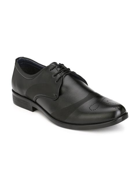 John Karsun Men Black Derby Shoes