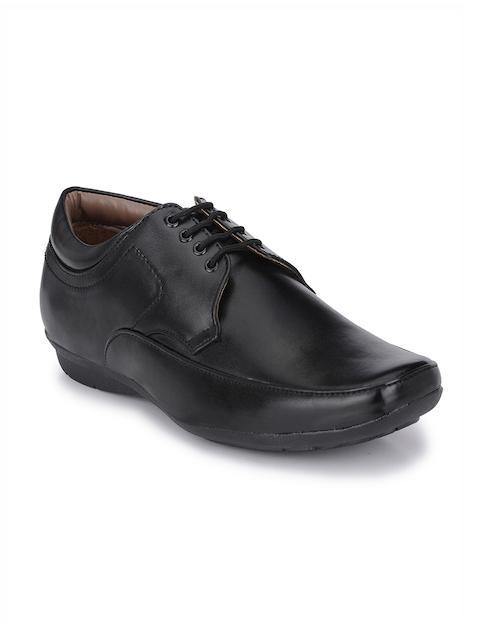 John Karsun Men Black Square-Toed Derby Shoes