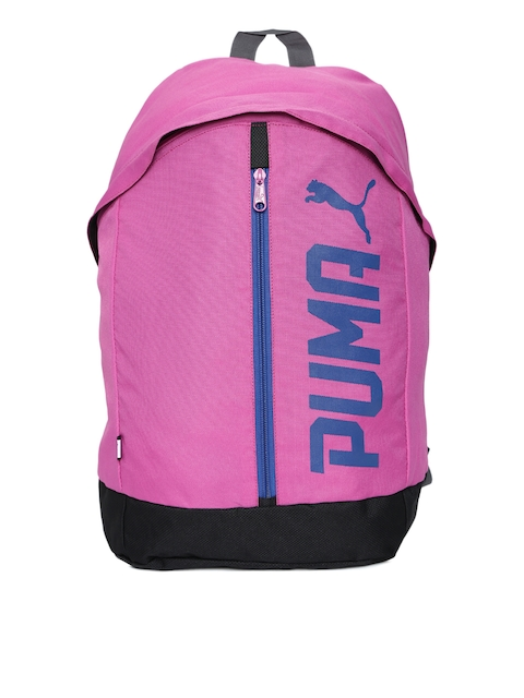 Puma Women Pink Solid Backpack  available at myntra for Rs.649