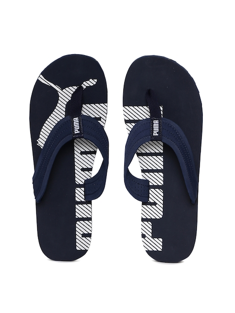 Puma Unisex Blue Flip-Flops