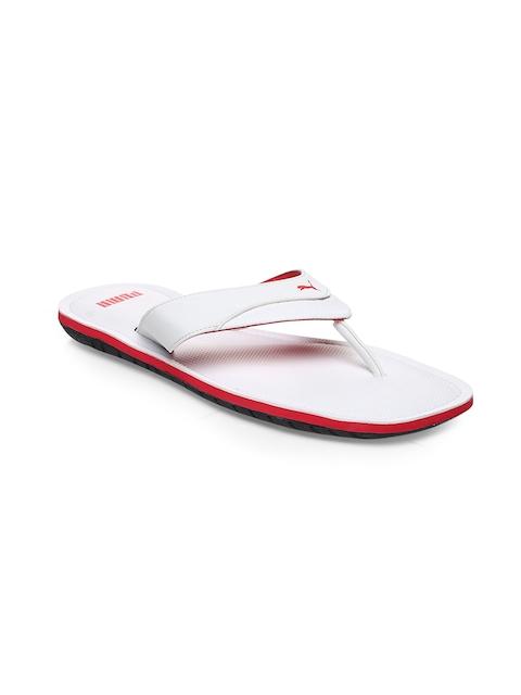 Puma Men White Flip-Flops