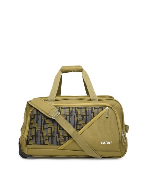 Safari Unisex Brown Printed Trolley Bag TROJAN RDFL 55