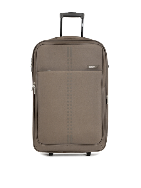 Safari Unisex Brown RAIL Medium Trolley Bag